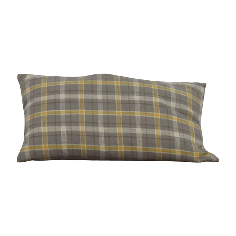 buy Plaid Roll Cushion Decorative Accents