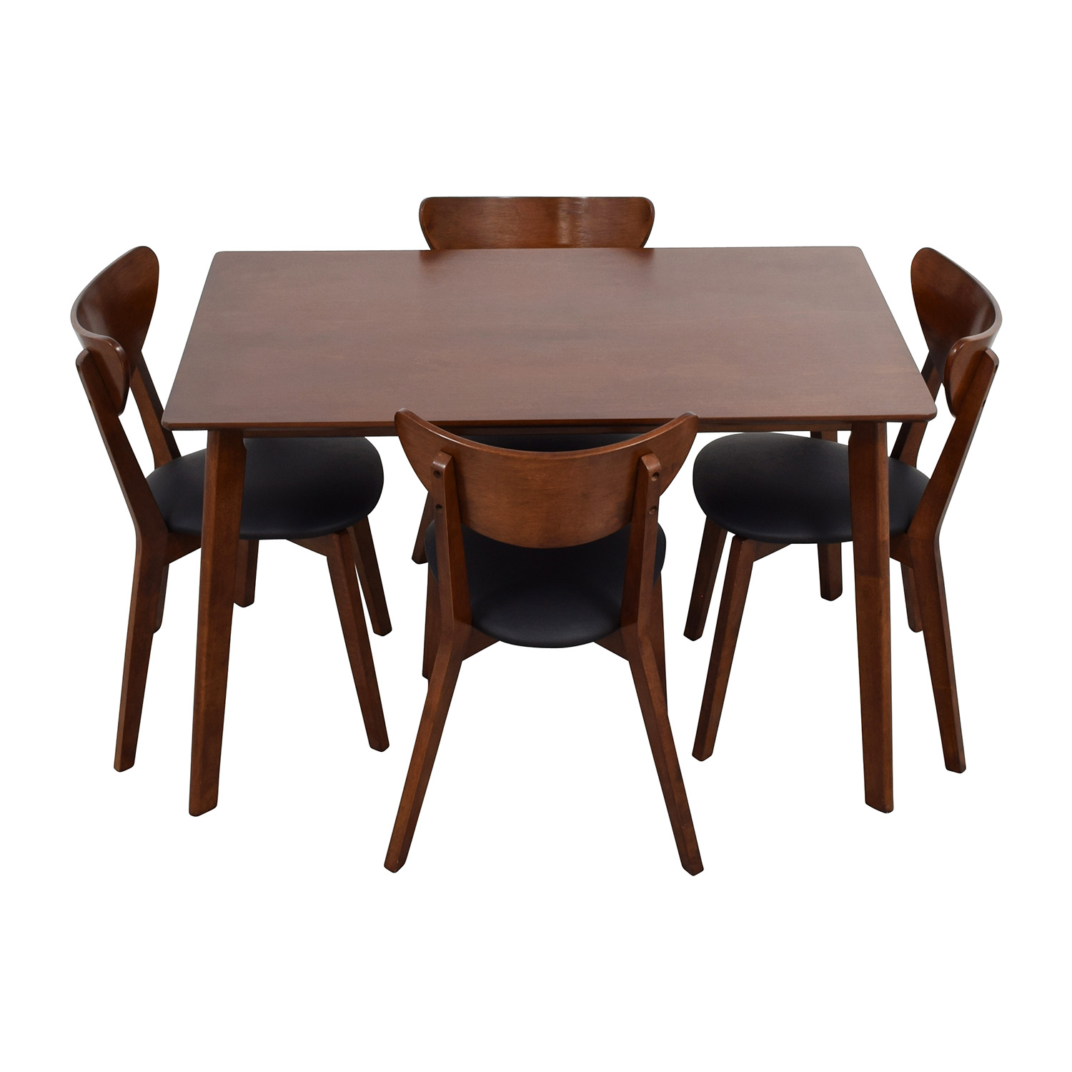 Secondhand Chairs And Tables: Wholesale Interiors Brown Dining Table Set With