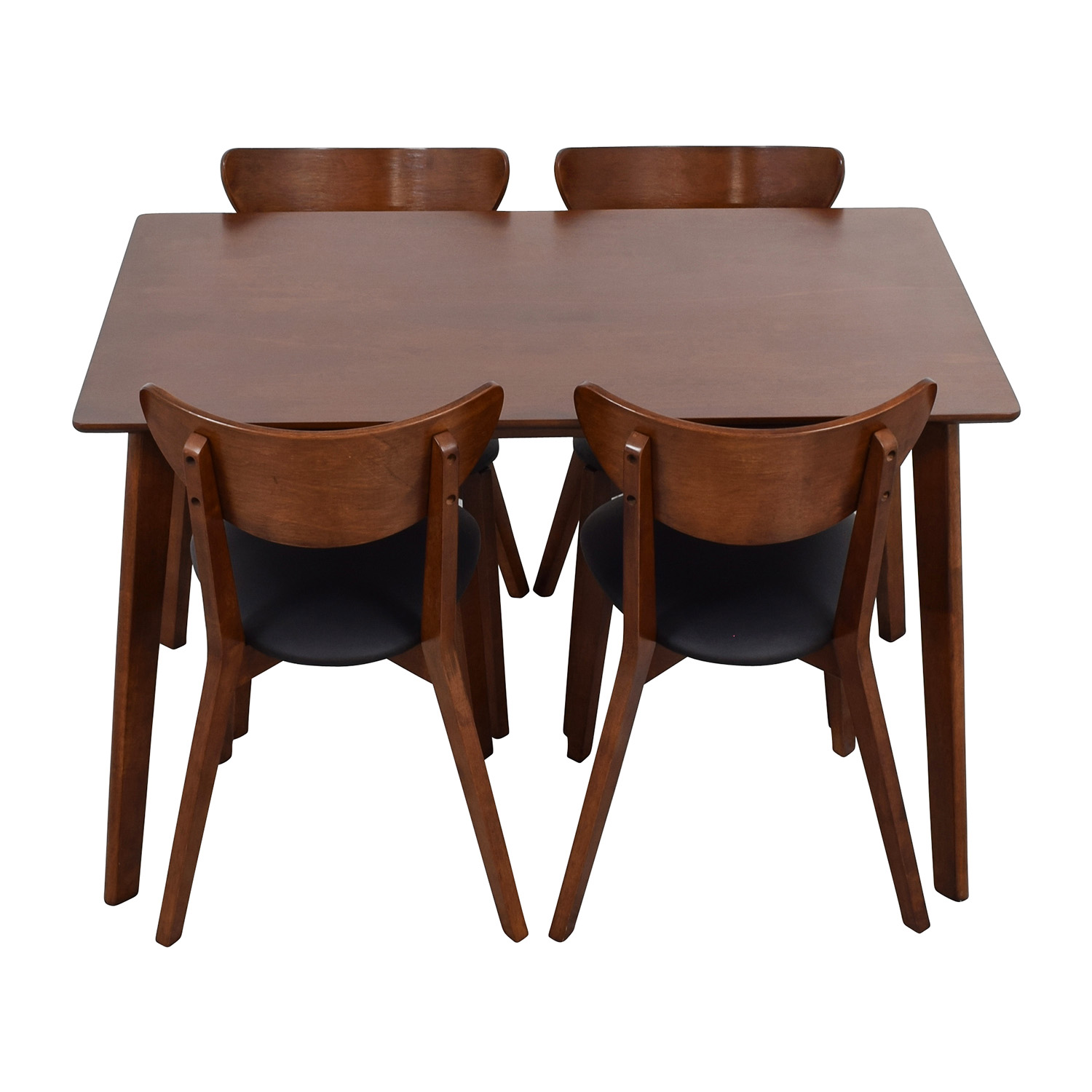 Wholesale Interiors Brown Dining Table Set with Four Chairs on sale