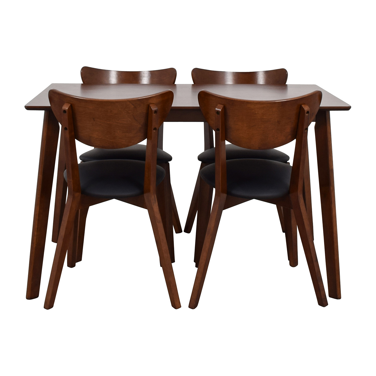 Wholesale Interiors Brown Dining Table Set with Four Chairs brown