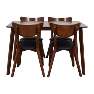 Wholesale Interiors Brown Dining Table Set with Four Chairs nj