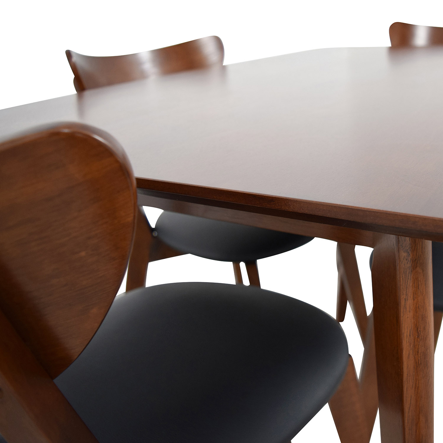Brown Dining Table Set with Four Chairs sale