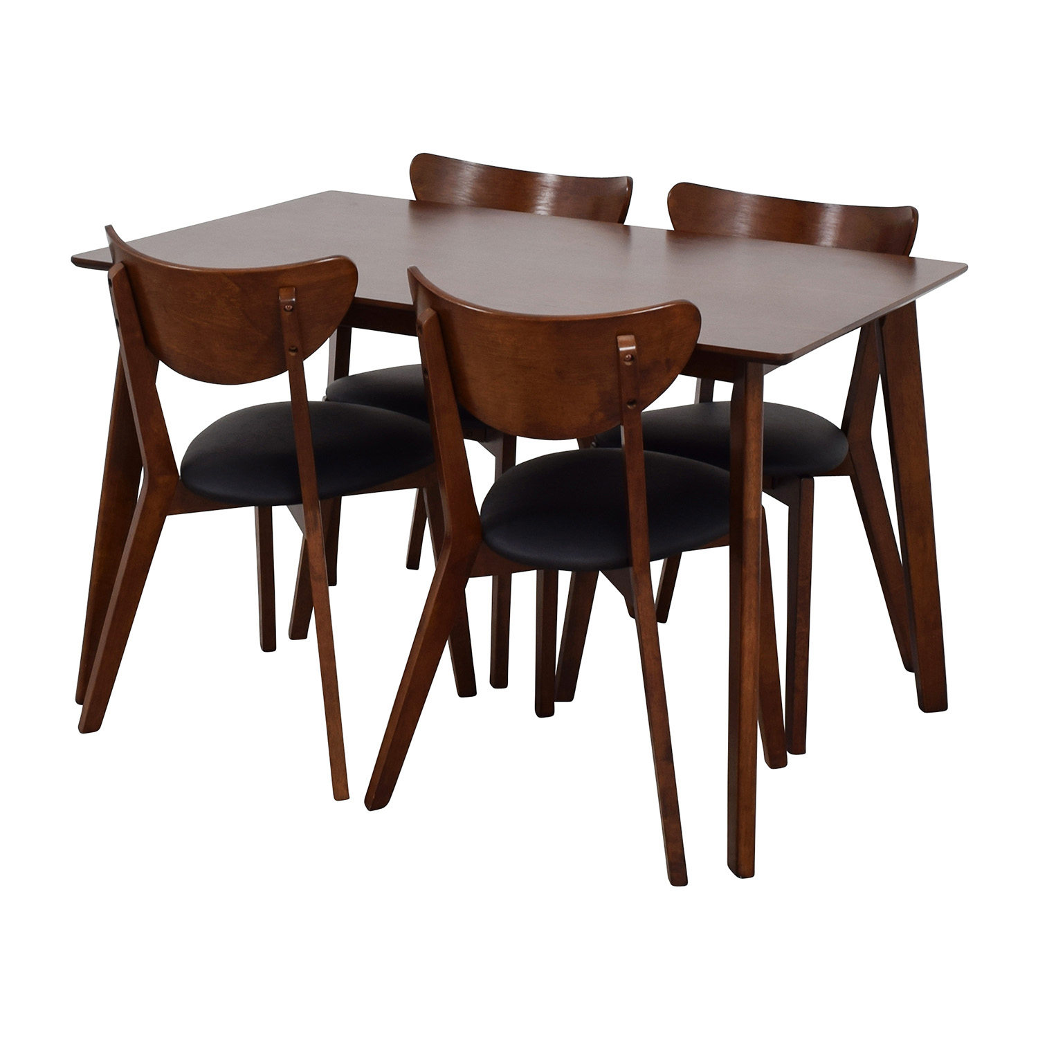 Wholesale Interiors Brown Dining Table Set with Four Chairs Tables