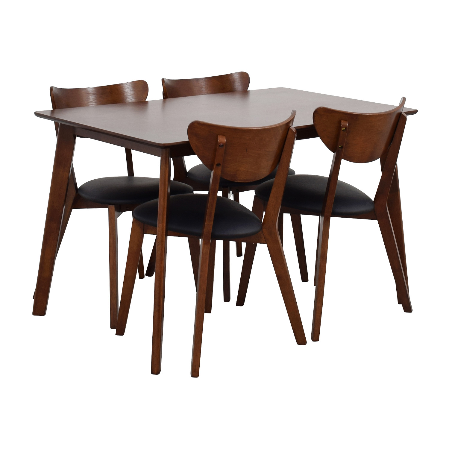 Wholesale Interiors Brown Dining Table Set with Four Chairs dimensions