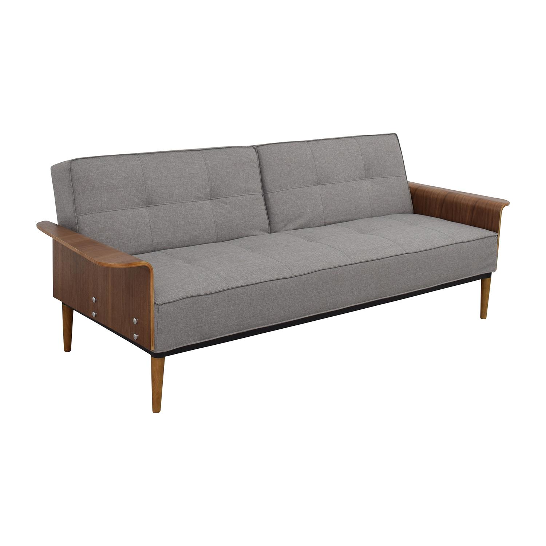 buy InMod Bjorg Tufted Light Grey Sofabed InMod Sofas