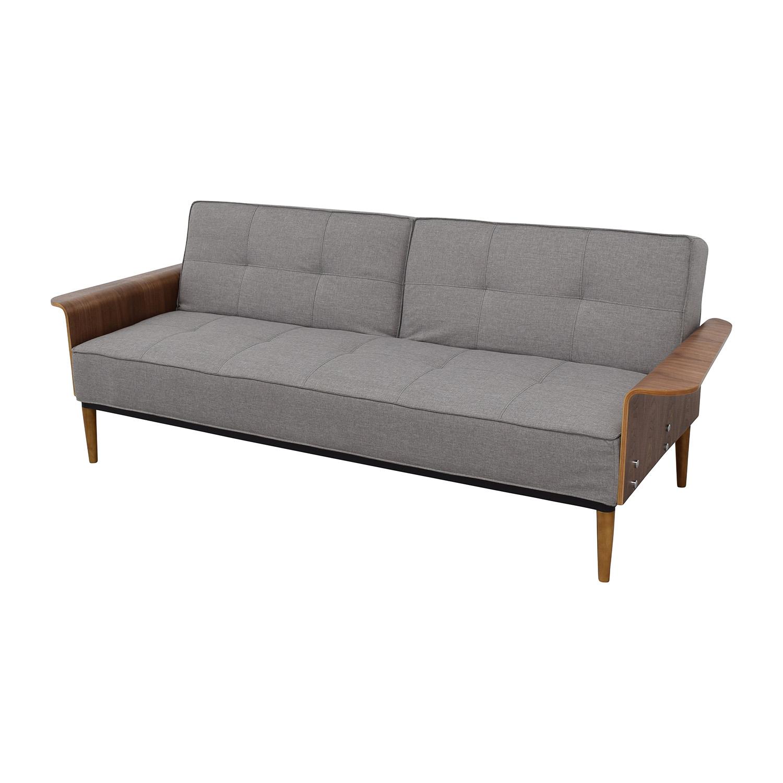 InMod InMod Bjorg Tufted Light Grey Sofabed nyc