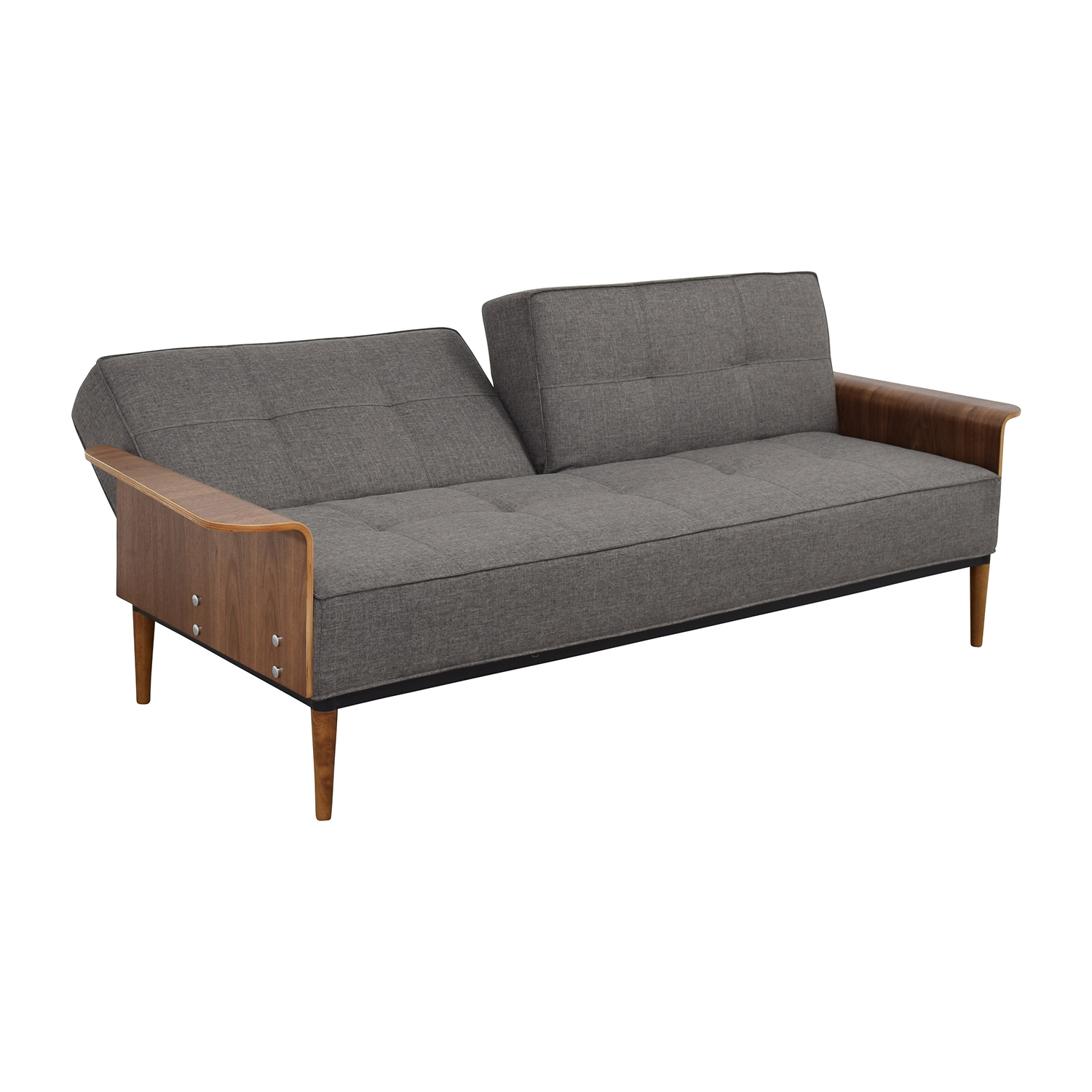InMod Bjorg Tufted Dark Grey Sofabed InMod