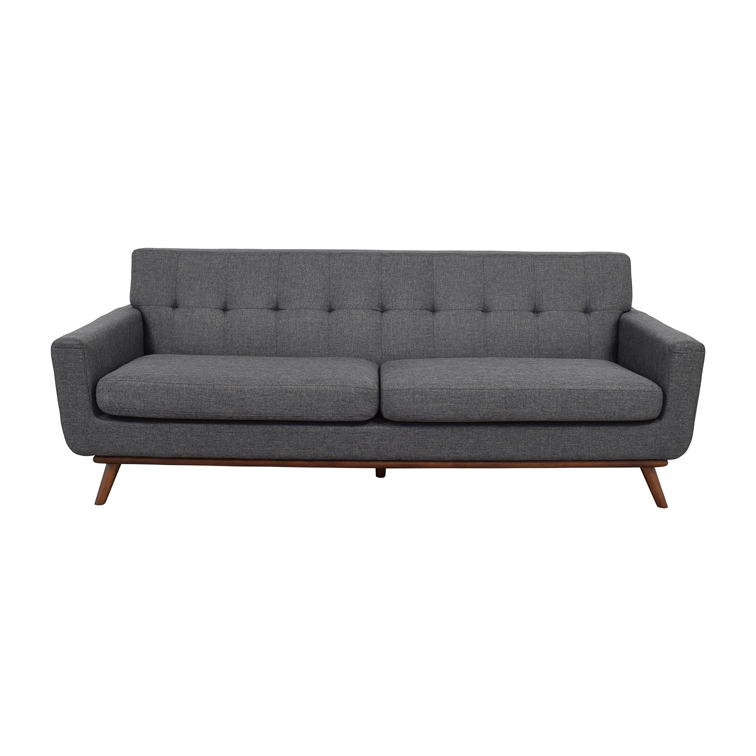Charcoal Tufted Sofa Smileydot Us