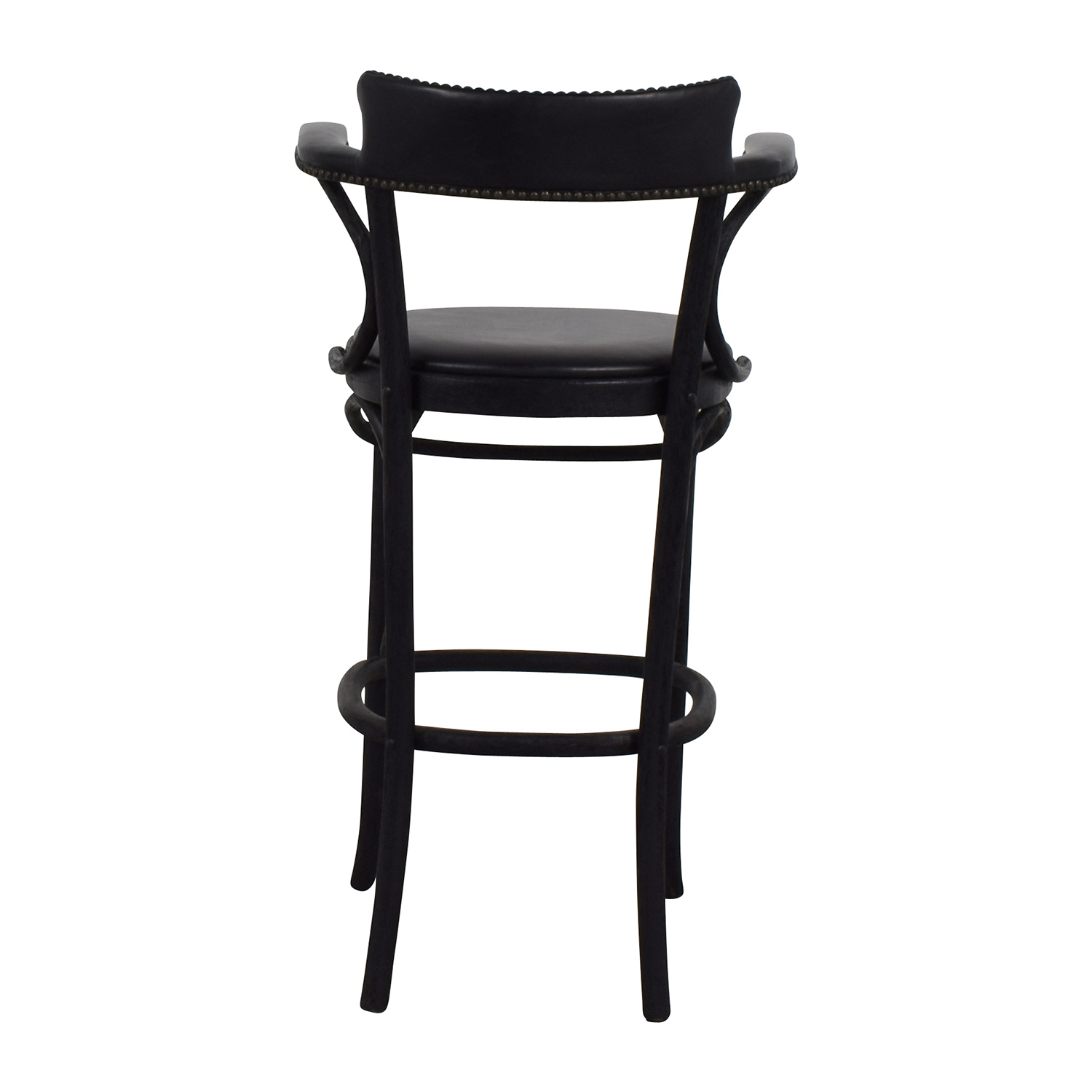 90 Off Restoration Hardware Vienna Cafe Leather Stool Chairs
