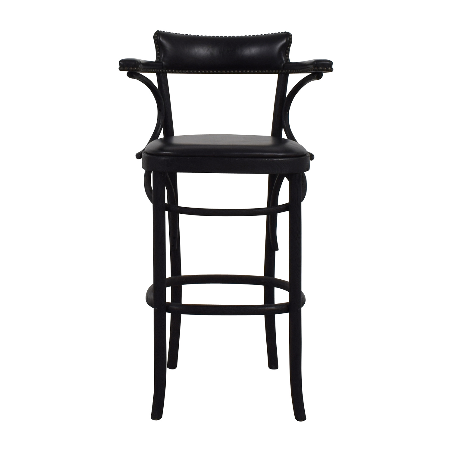 Restoration Hardware Vienna Cafe Leather Stool sale