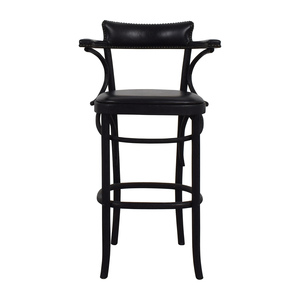 Restoration Hardware Restoration Hardware Vienna Cafe Leather Stool nyc