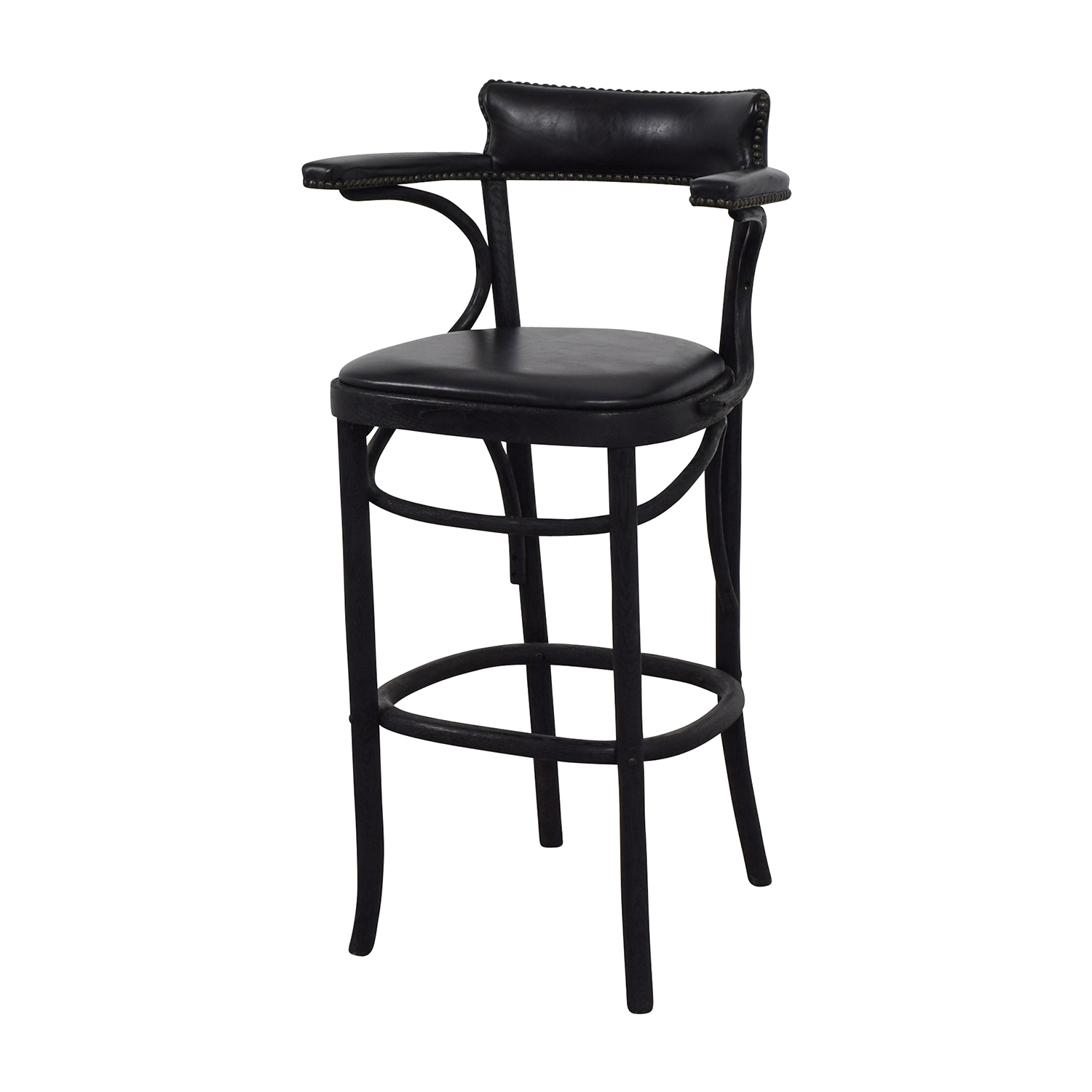 Restoration Hardware Restoration Hardware Vienna Cafe Leather Stool price