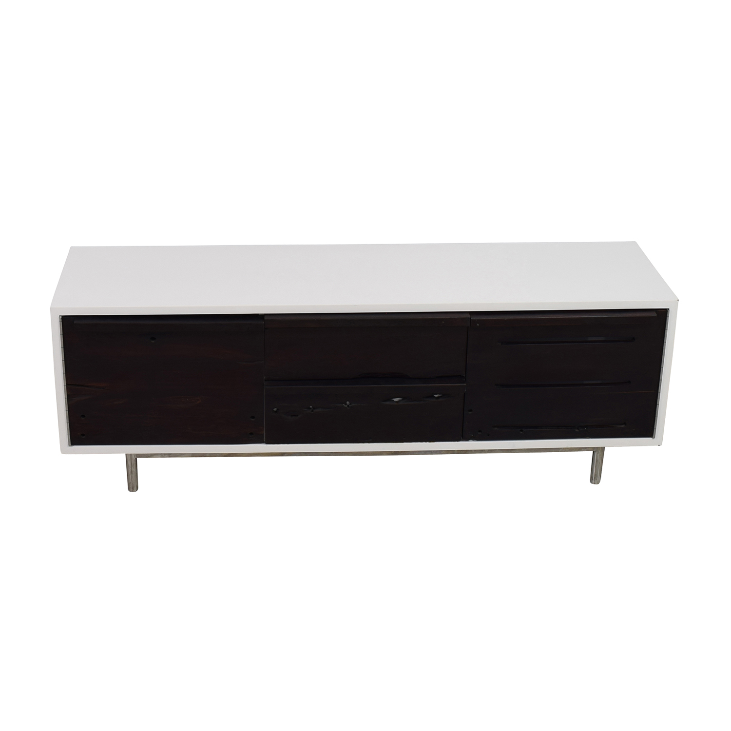 buy LDK by Bartolo White and Black Modern Wood Credenza LDK by Bartolo