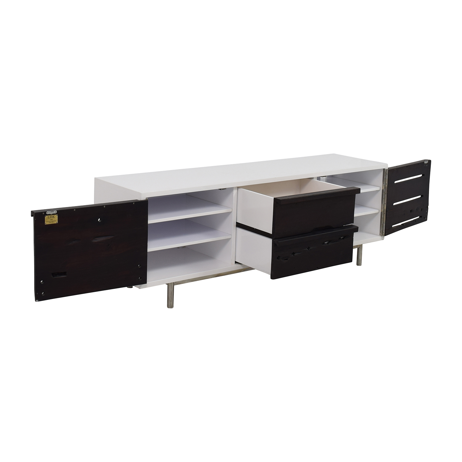 Modern White Credenza 70 Off Ldk By Bartolo Ldk By Bartolo White And Black Modern