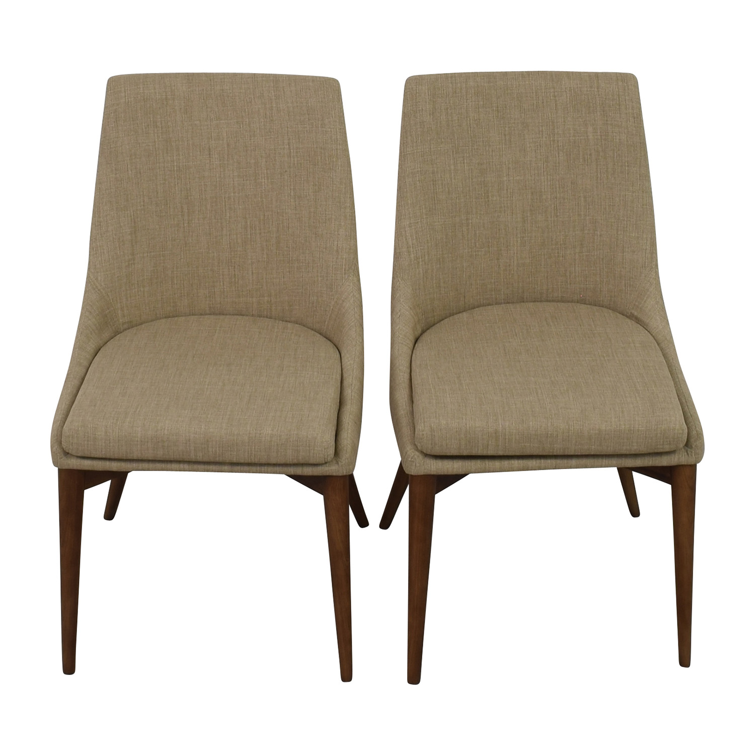 InMod InMod Beige Calais Side Chairs Dining Chairs