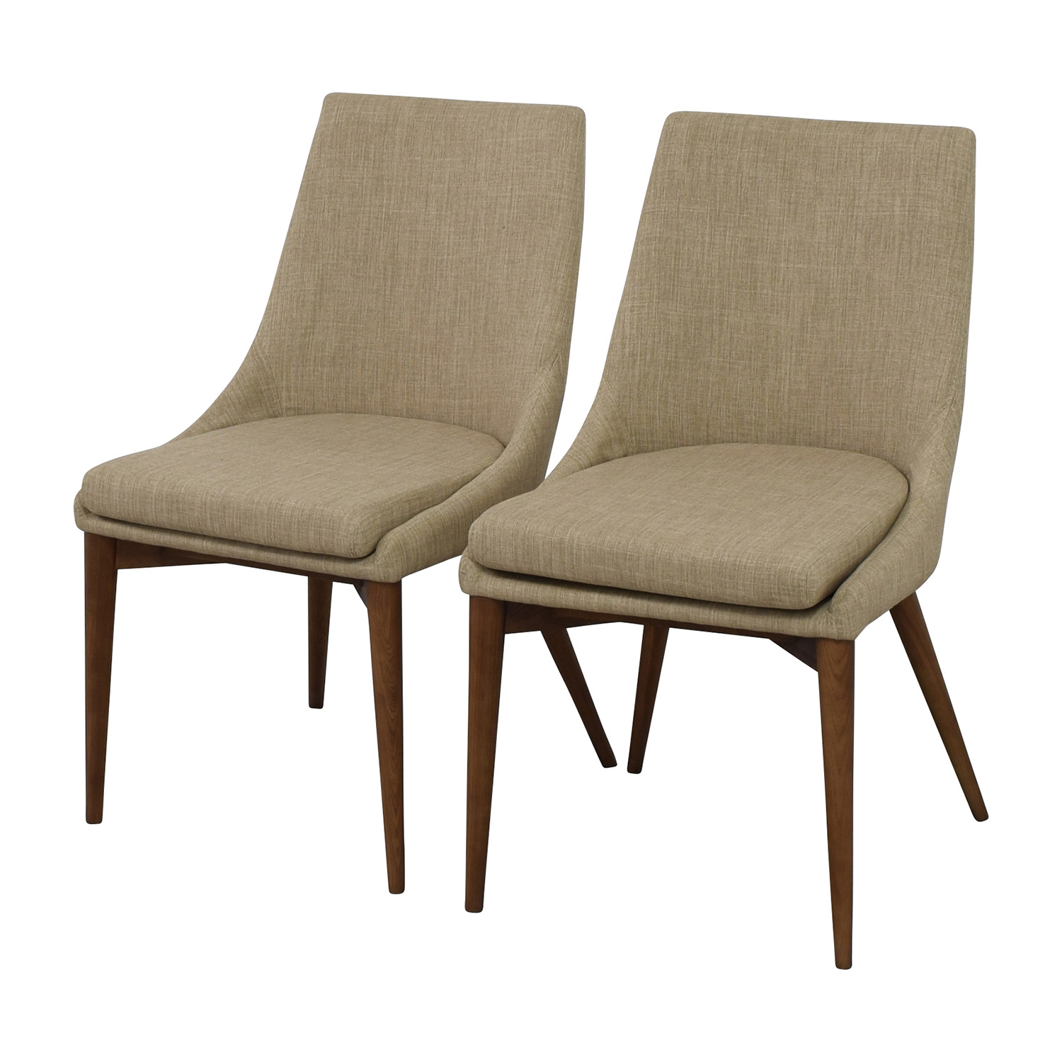 ... Buy InMod Beige Calais Side Chairs InMod Dining Chairs ...