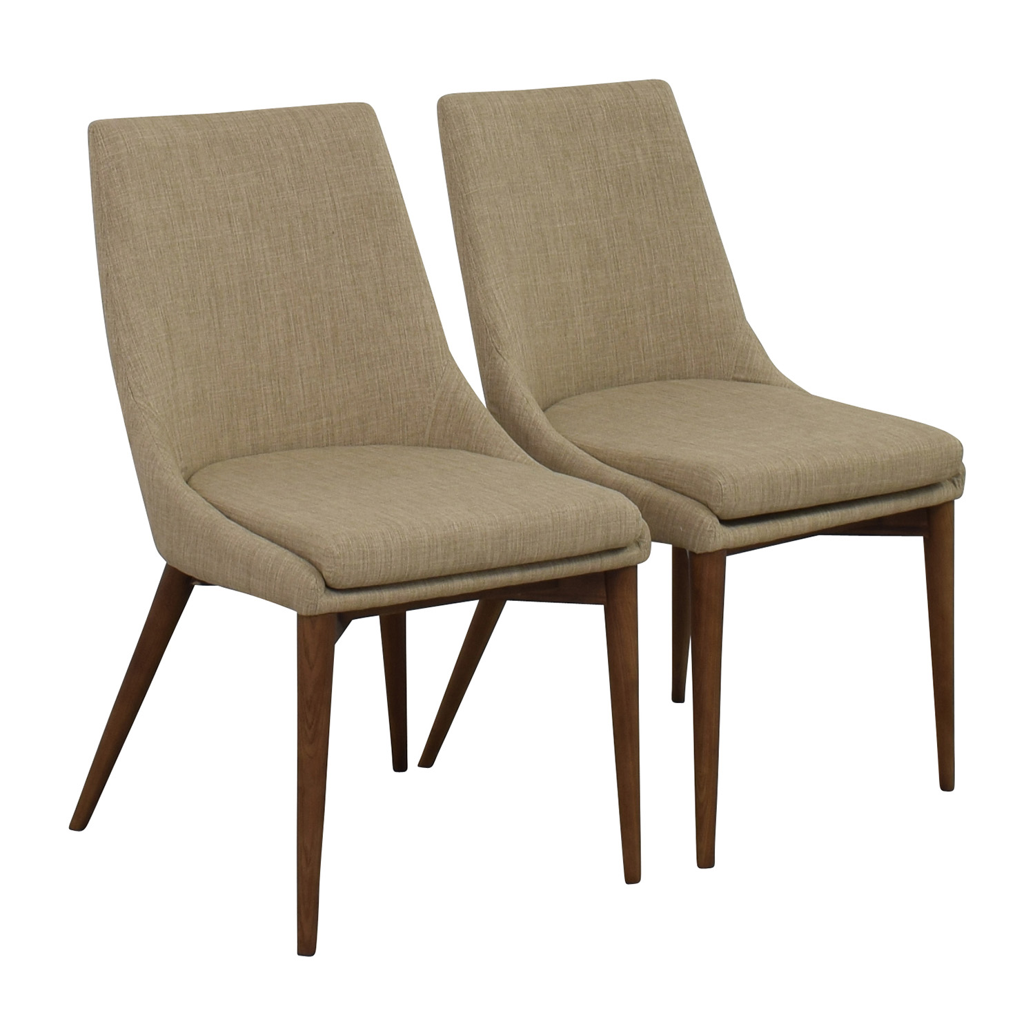 ... InMod InMod Beige Calais Side Chairs Dimensions ...