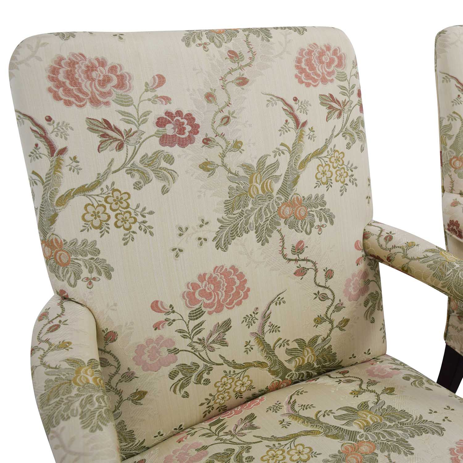 Traditional Upholstered Arm Chair, Set of Two dimensions