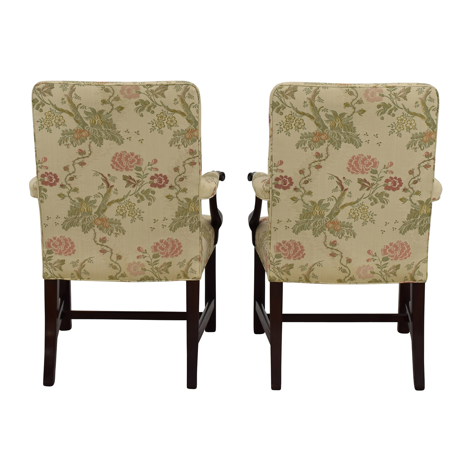 Traditional Upholstered Arm Chair, Set of Two on sale