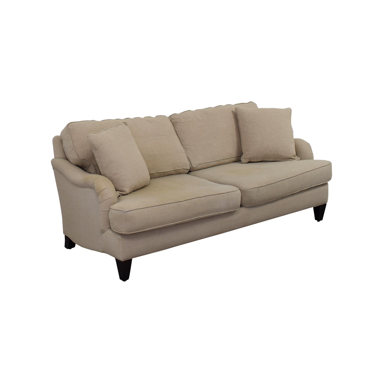 ... Home Decorators Home Decorators Khaki Two Cushion Sofa On Sale ...