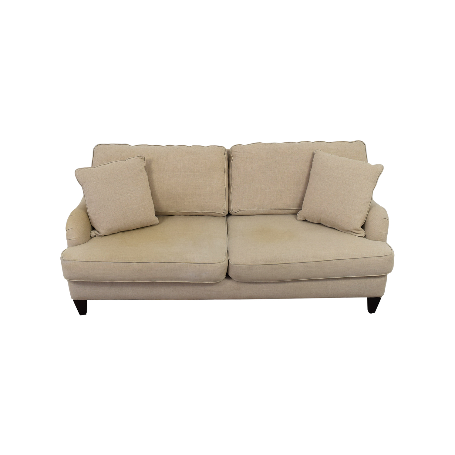 Home Decorators Home Decorators Khaki Two-Cushion Sofa discount