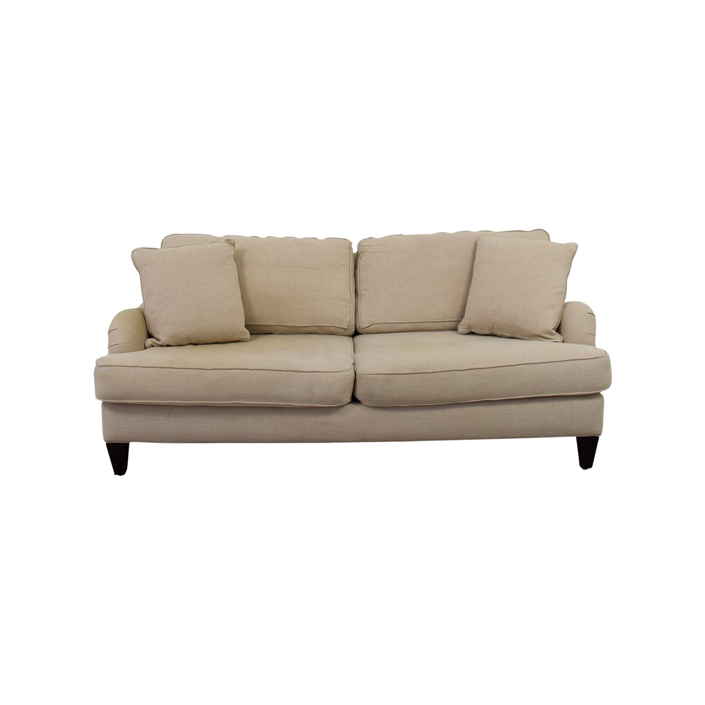 Home Decorators Home Decorators Khaki Two-Cushion Sofa used