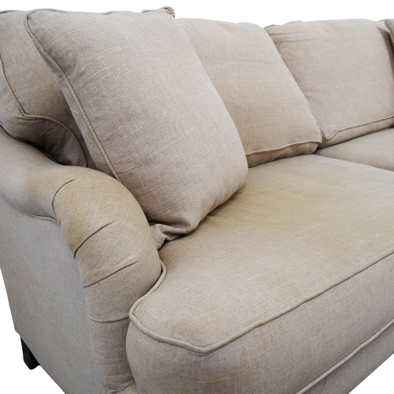 Home Decorators Home Decorators Khaki Two-Cushion Sofa coupon