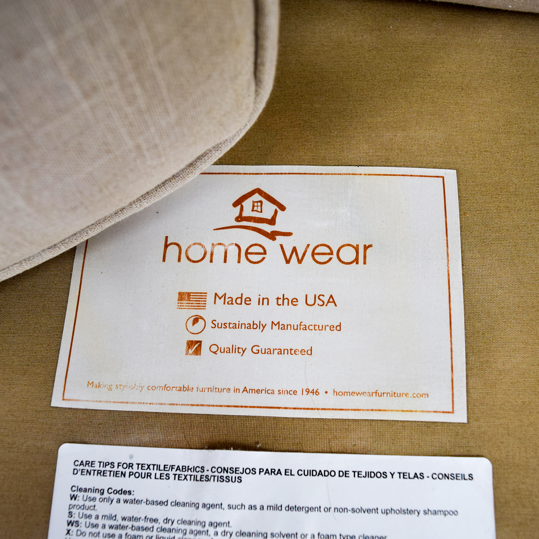 Home Decorators Home Decorators Khaki Two-Cushion Sofa Classic Sofas
