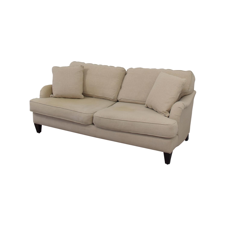 shop Home Decorators Home Decorators Khaki Two-Cushion Sofa online