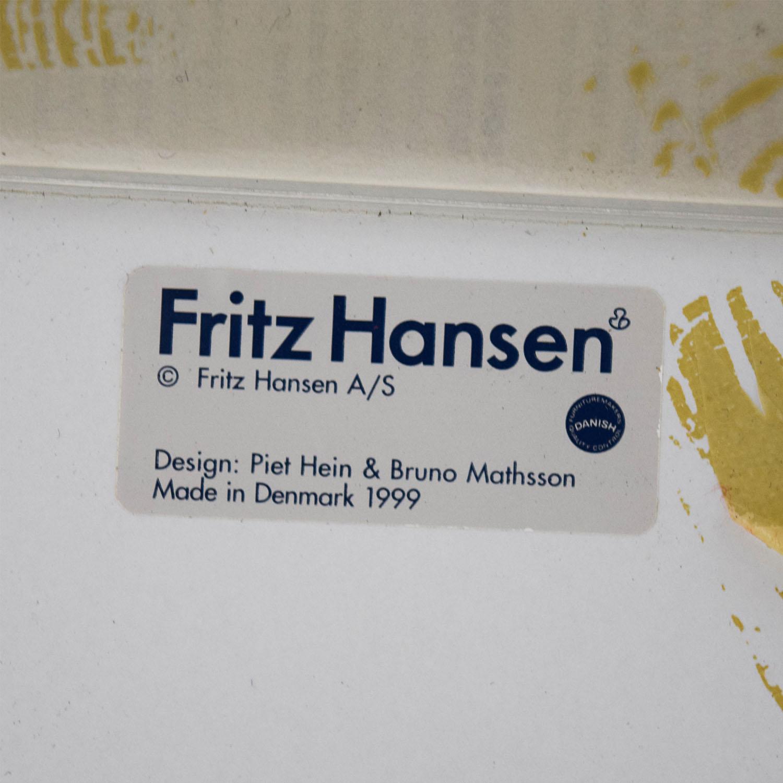 shop Fritz Hasen White and Chrome Oval Table Fritz Hansen Dinner Tables