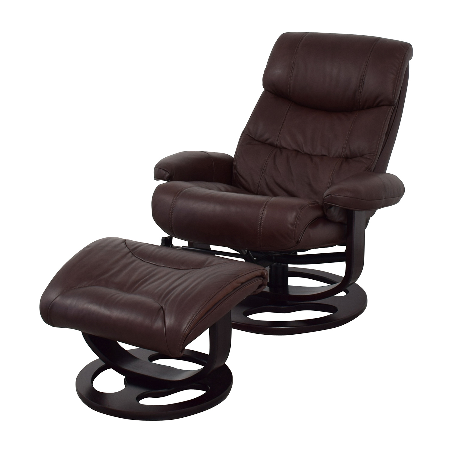 Macys Macys Aby Brown Leather Recliner Chair & Ottoman price