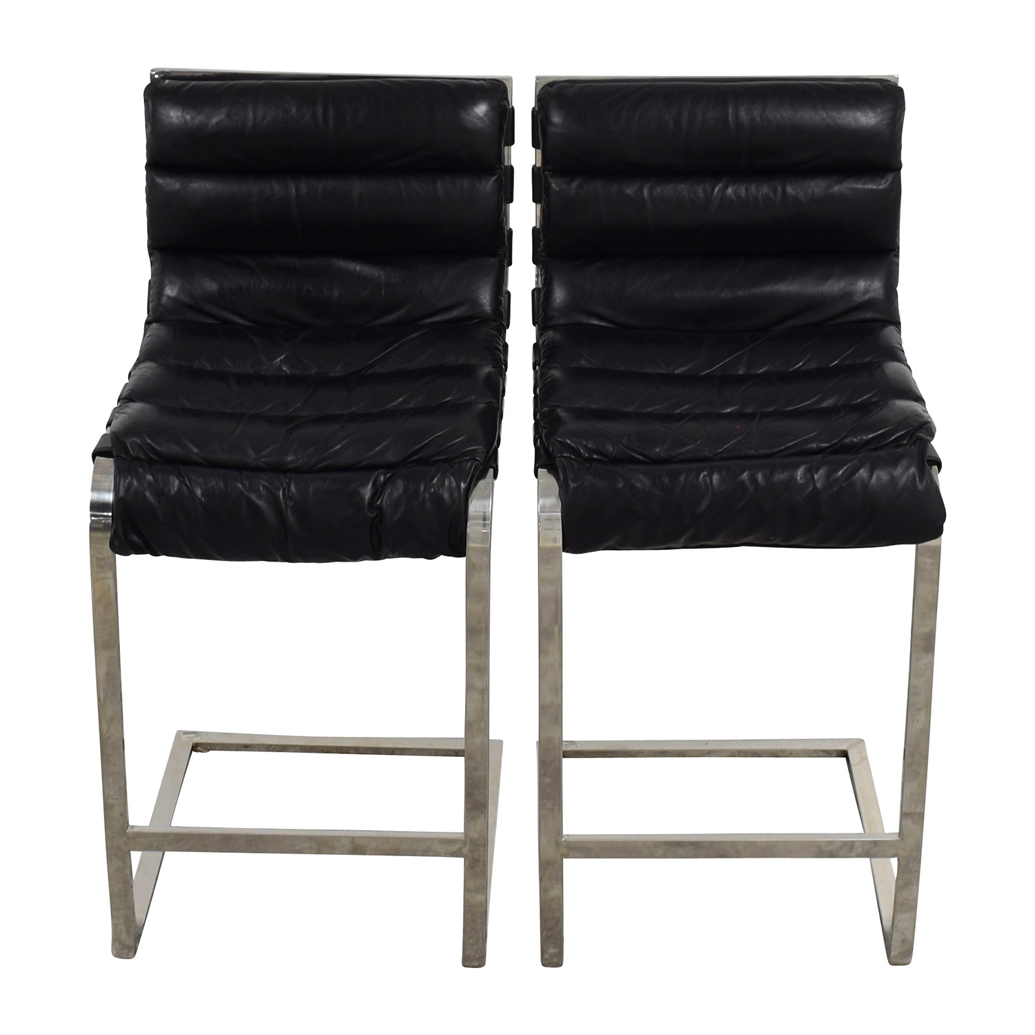Restoration Hardware Restoration Hardware Oviedo Leather Counter Stool nyc