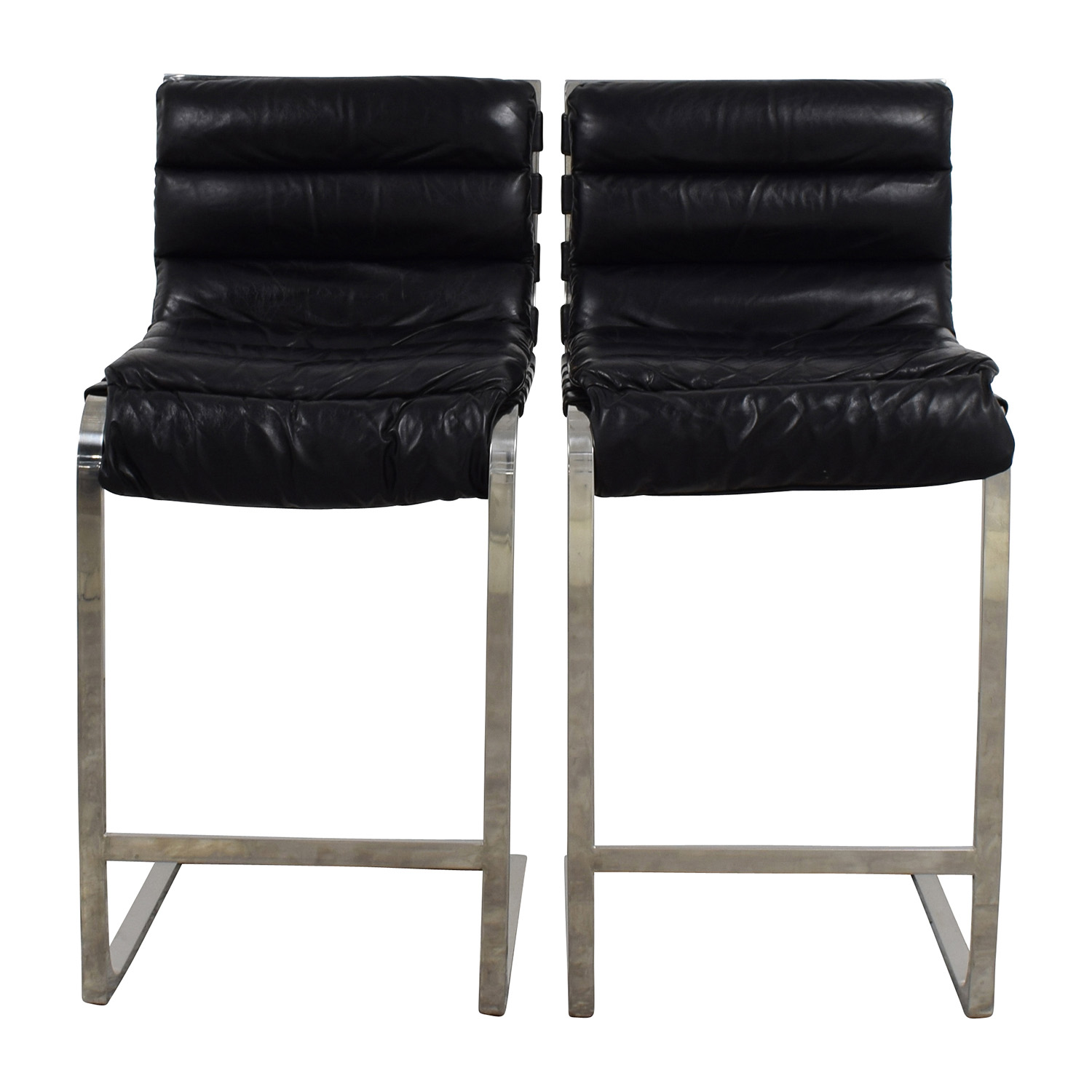 Restoration Hardware Restoration Hardware Oviedo Leather Counter Stool Stools