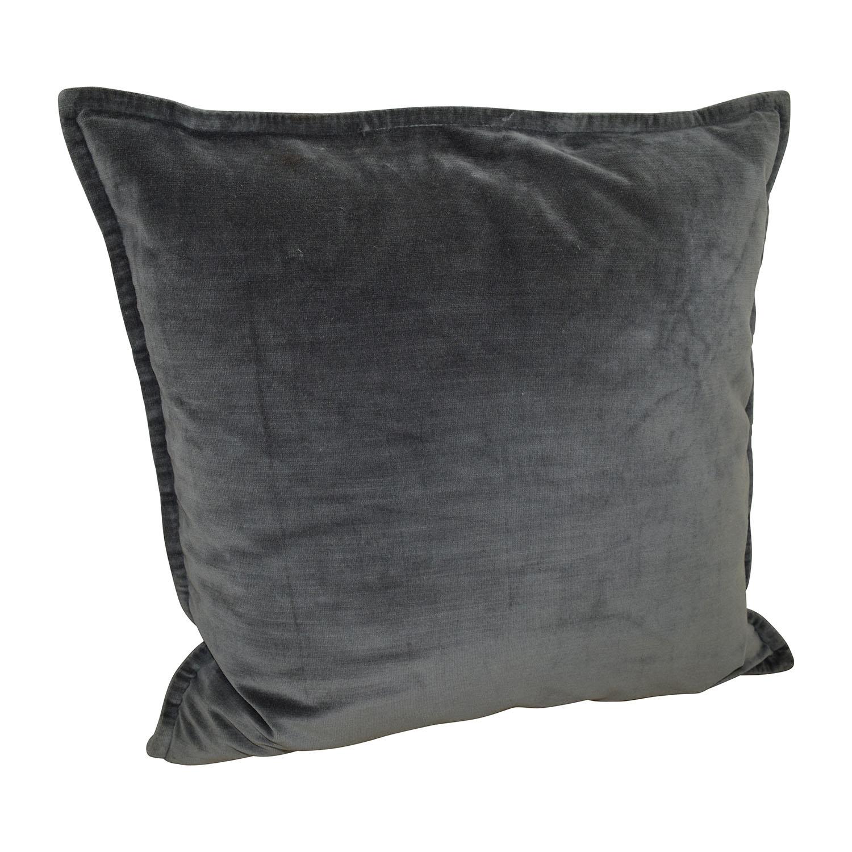 shop Gray Microfiber Toss Pillow