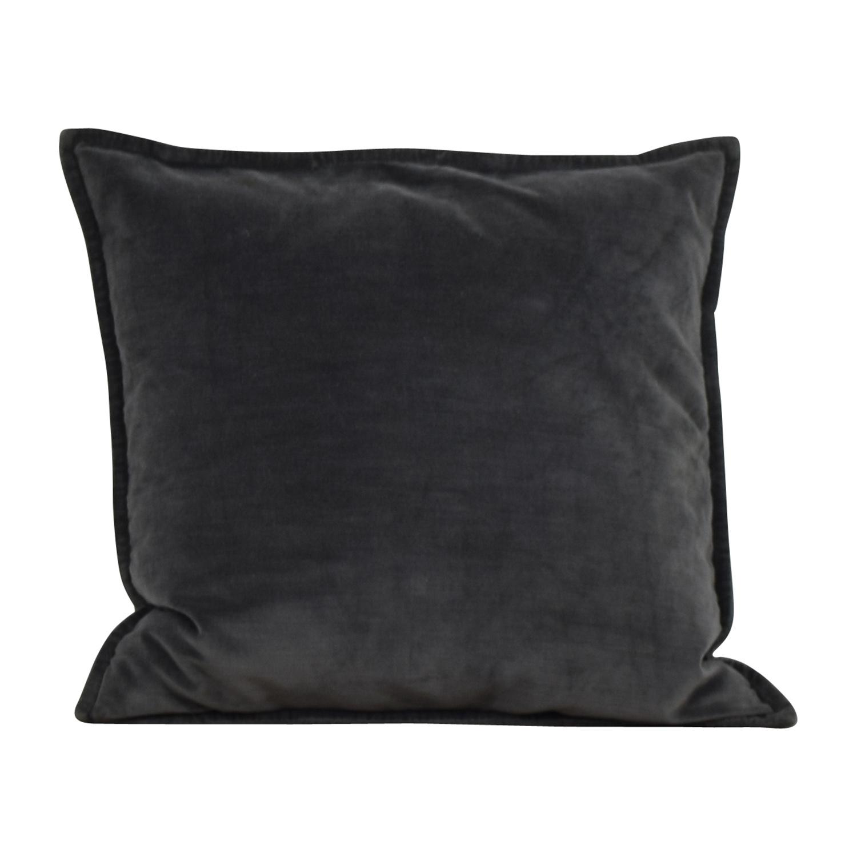 Gray Microfiber Toss Pillow second hand