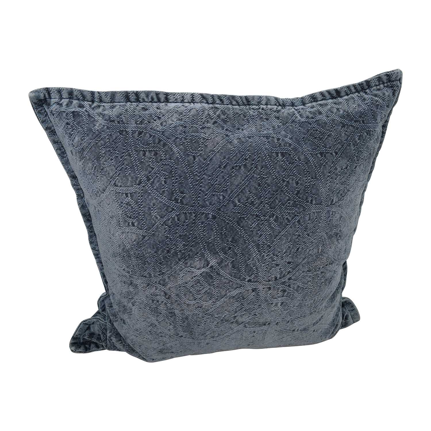 Dark Blue Raised Design Toss Pillow price