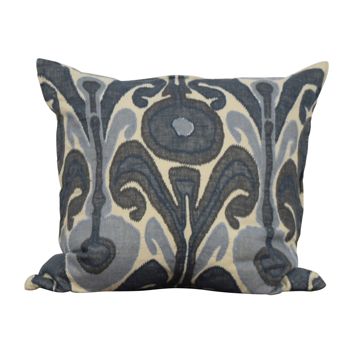 Light Blue and Navy Decorative Pillow nyc