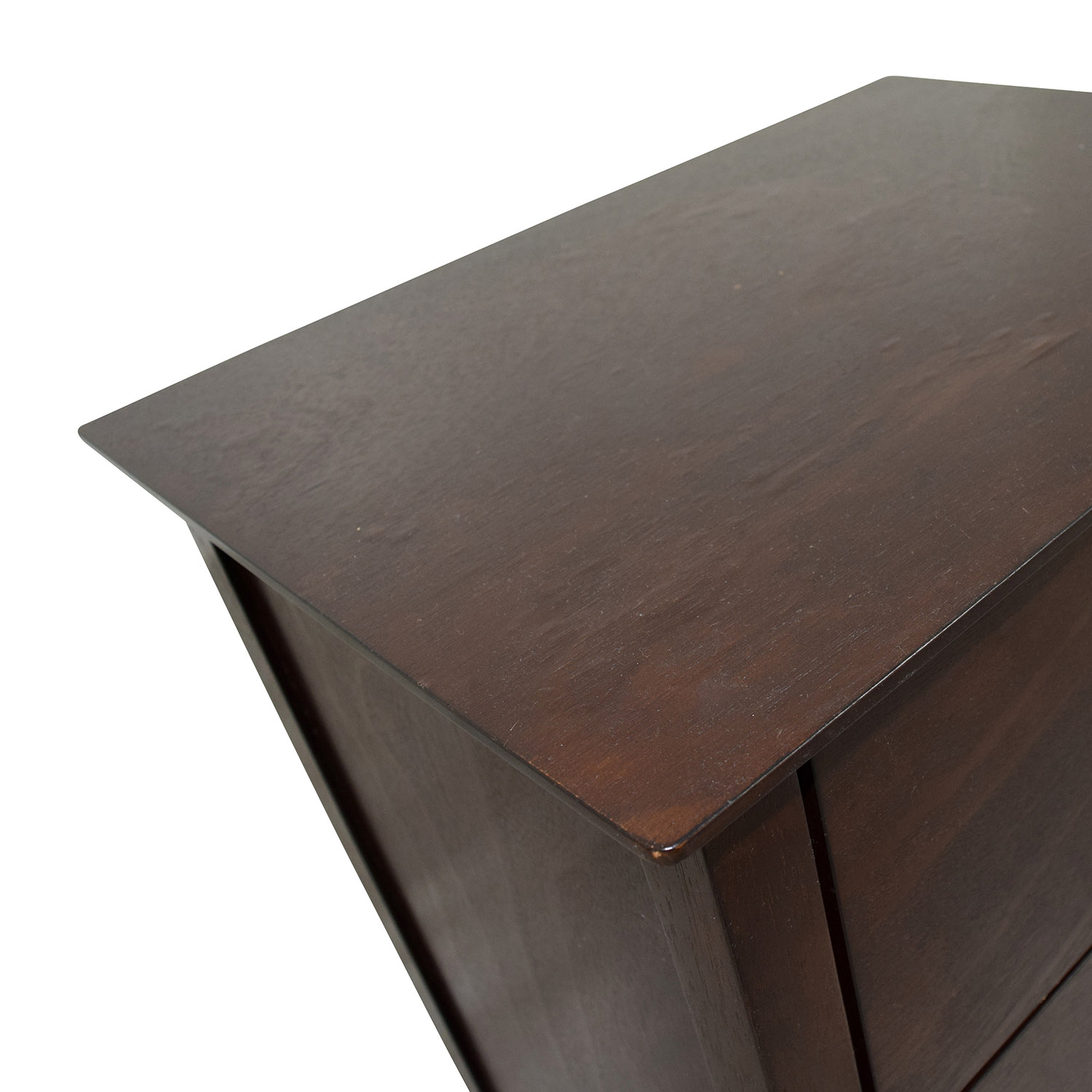 Two-Drawer Wooden Nightstand / Tables