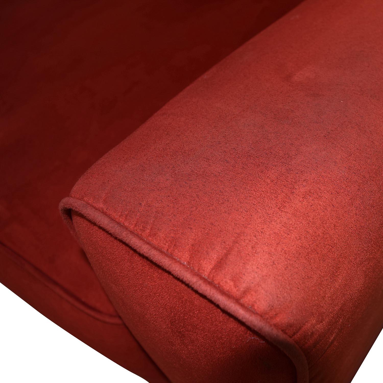 Macys Macys Red Microfiber Two-Cushion Couch nyc