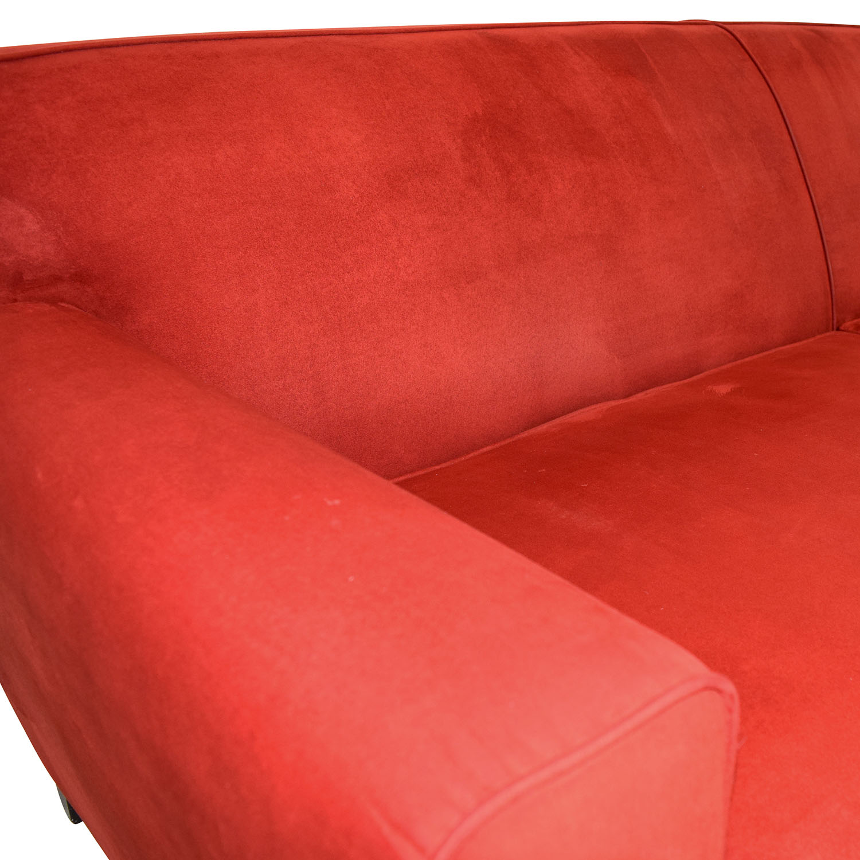shop Macys Red Microfiber Two-Cushion Couch Macys Sofas
