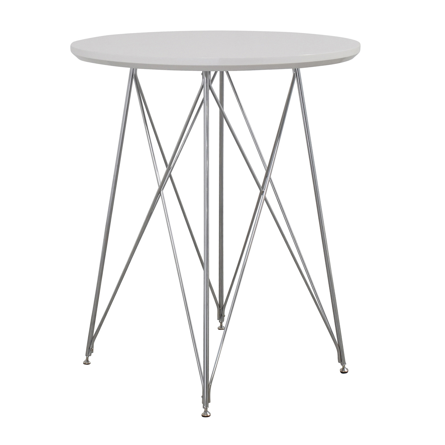 85 Off Monarch Furniture Monarch Furniture White Metal Bar Table Tables