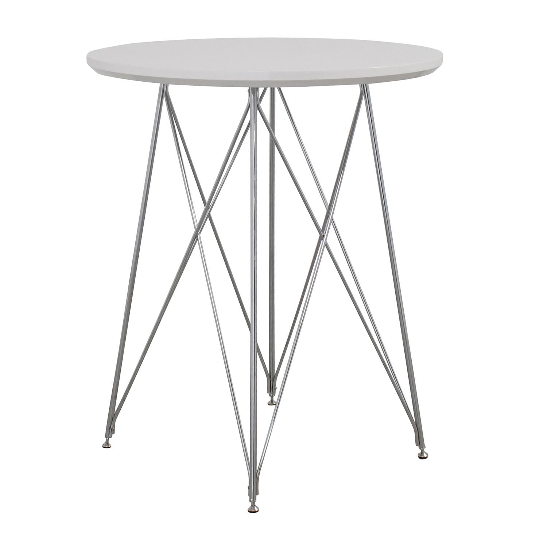Monarch Furniture Monarch Furniture White Metal Bar Table on sale