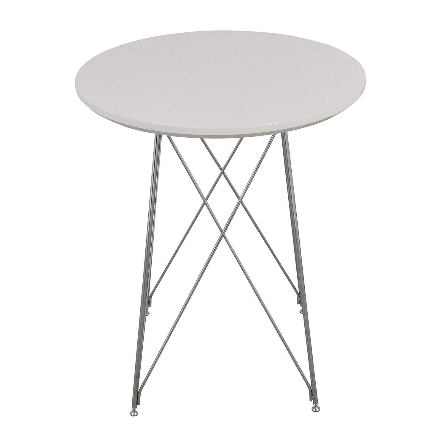 Monarch Furniture Monarch Furniture White Metal Bar Table White