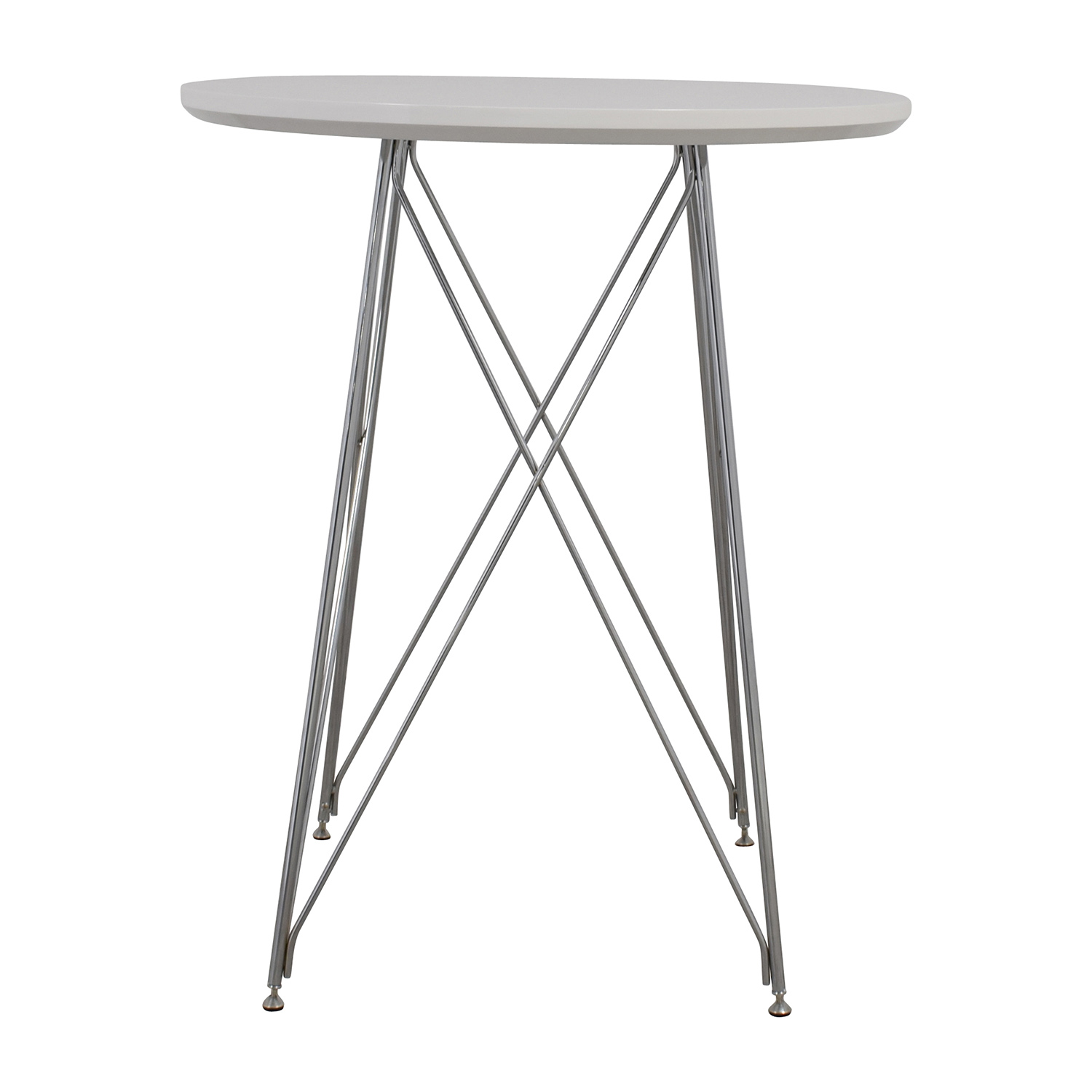 Monarch Furniture Monarch Furniture White Metal Bar Table used