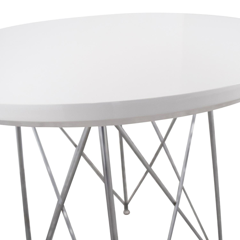 shop Monarch Furniture Monarch Furniture White Metal Bar Table online