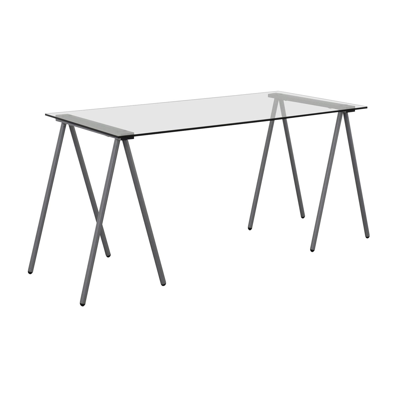 Flash Furniture Glass And Chrome Writing Desk