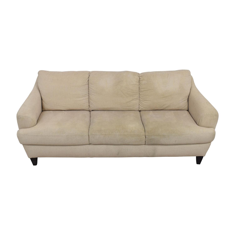 Italsofa Beige Tweed Three Cushion Fabric Sofa sale