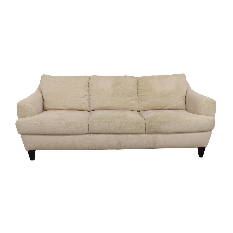 shop Italsofa Beige Tweed Three Cushion Fabric Sofa Italsofa Classic Sofas