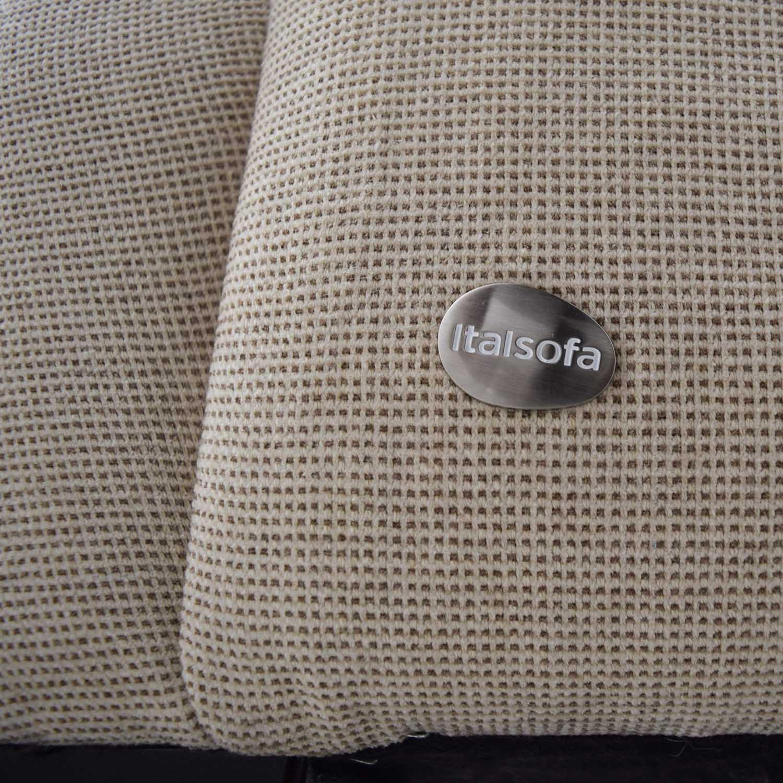 Italsofa Italsofa Beige Tweed Three Cushion Fabric Sofa nj
