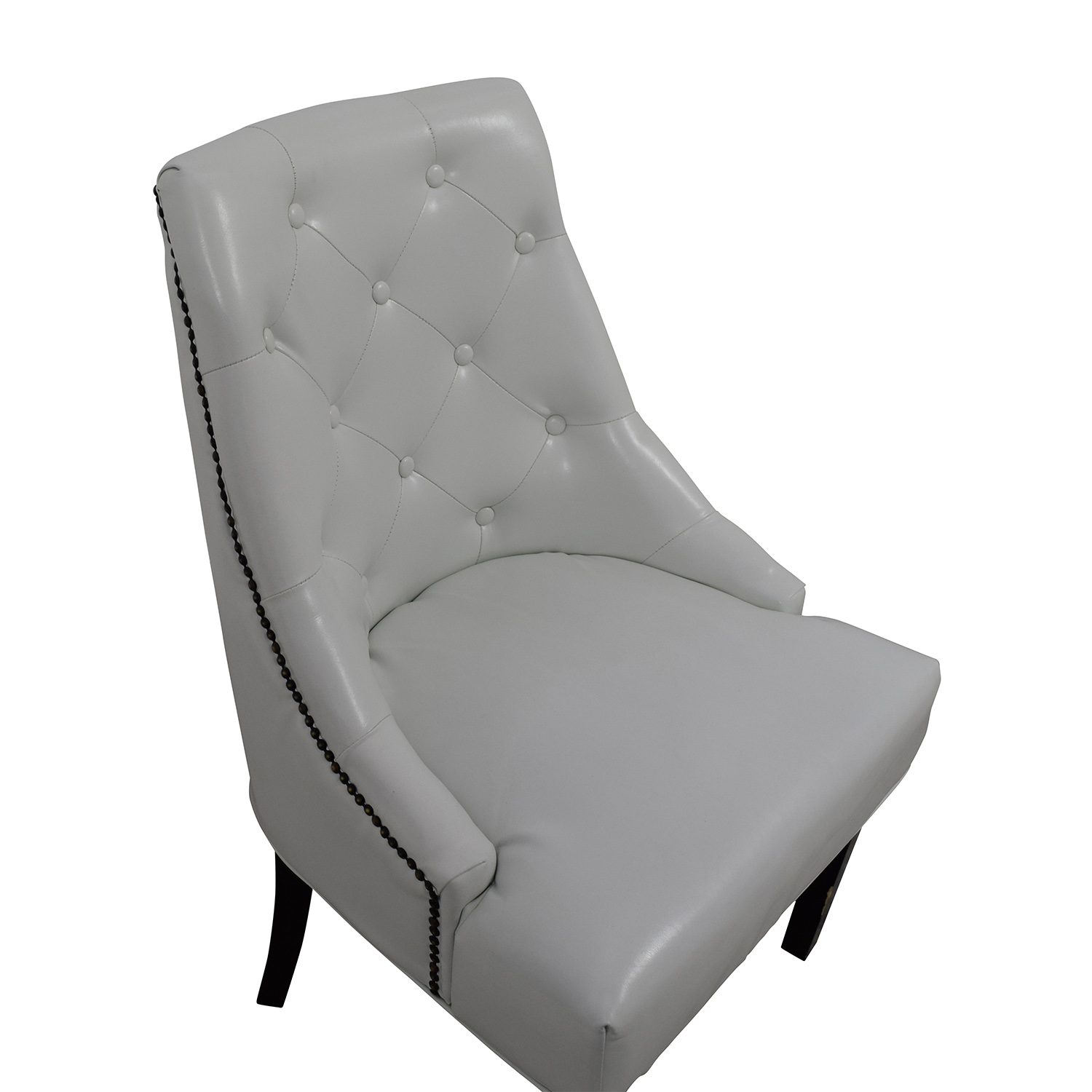 buy White Leather Accent Chair